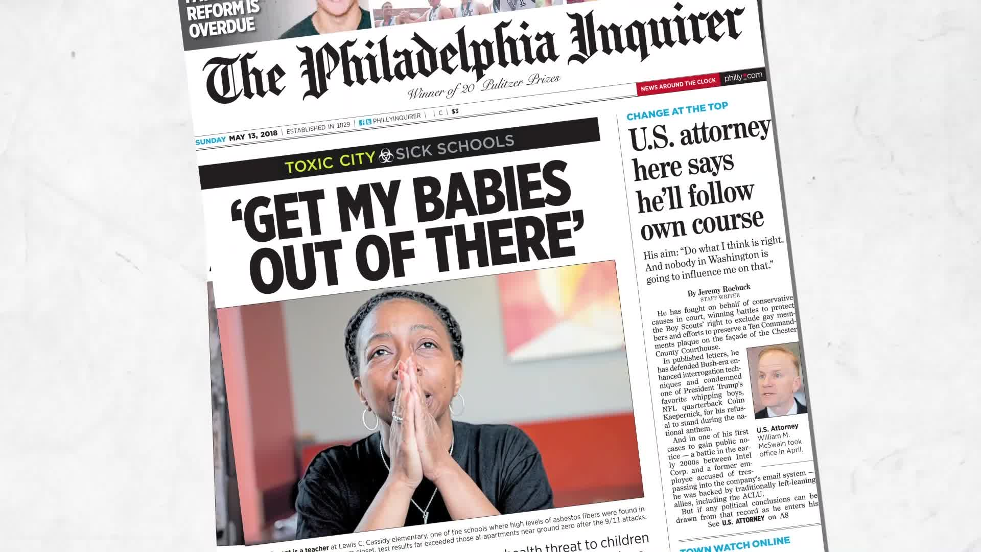 Newspaper Investigations Of Toxic >> The Inquirer S Toxic City Series Wins National Investigative